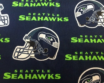 Seattle Seahawks NFL fabric in the Seattle Seahawk Colors Light Weight  Cotton Fabric 198138173