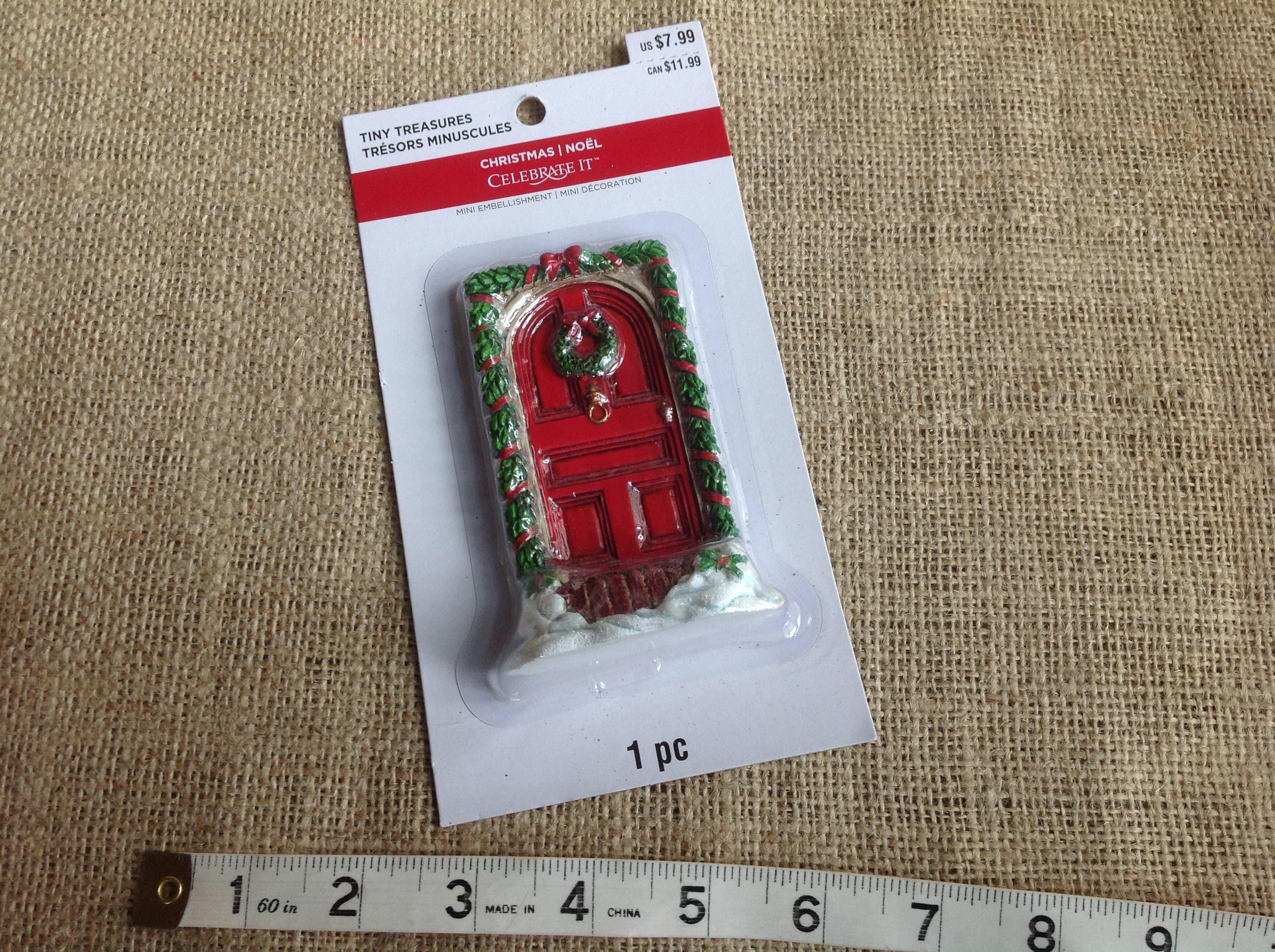 Fairy Door Red Christmas Fairy Door By Celebrate It Tiny Treasures