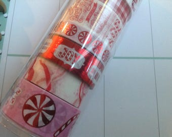 Christmas Washi By Recollections Peppermint Candy Themed ADORABLE