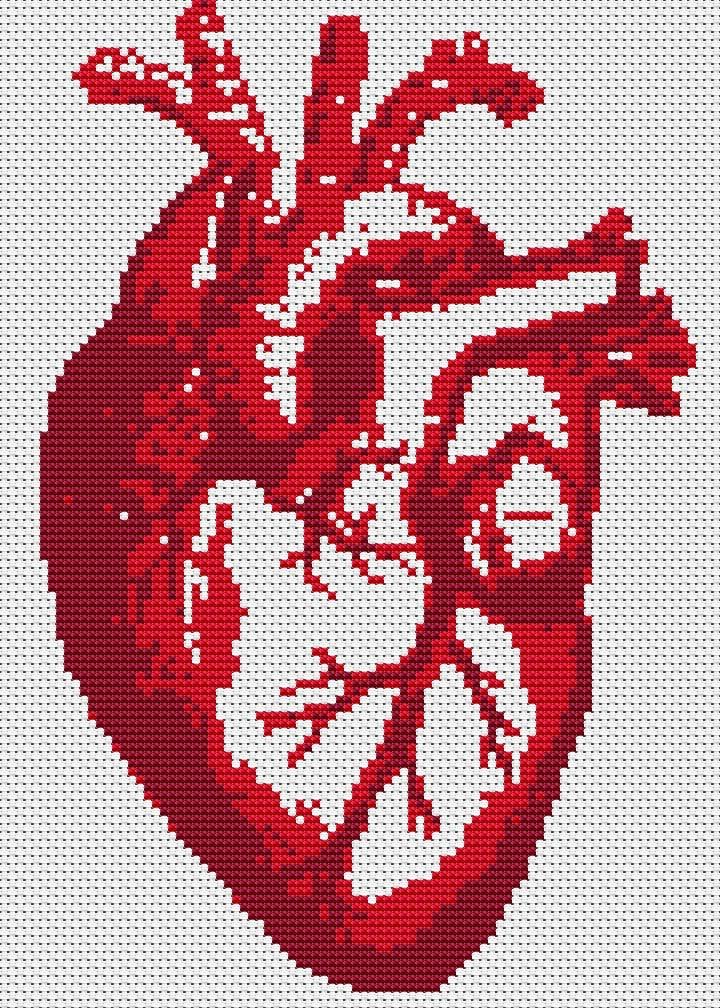Cross Stitch Kit Beat y moderno punto de Cruz corazón