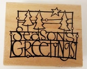New Rubber Stamp - Seasons Greetings