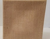 Blank Stretched burlap square