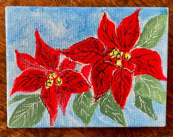 Sparkling poinsettia for your Christmas tree