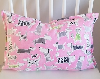 Vintage 1990/'s WAVERLY Pink and Purple Floral Decorative Pillow