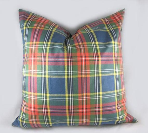 Green Tartan Plaid Pillow Sham