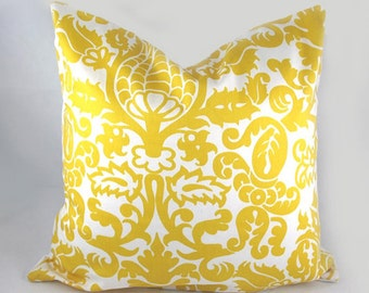 Decorative Pillow Cushion Cover - Accent Pillow - Throw Pillow - Amsterdam Yellow - 18 x 18 Inch