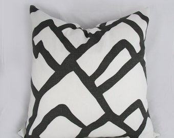 Schumacher-  Zimba - Decorative Pillow Cushion Cover - Accent Pillow - Throw Pillow  - Charcoal