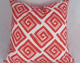 Decorative Pillow Cushion Cover - Accent Pillow - Throw Pillow - Coral red