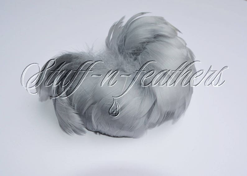 Gray feathers goose coquille for millinery wedding image 0