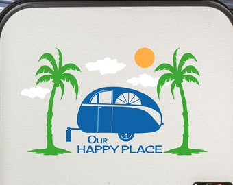 RV Camping Decal, Tropical Palm Trees, Glamping Decor SP-145