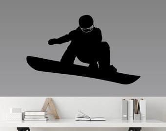 Snowboard Decal, Extreme Sports, Snowboarder Sticker, Kids Room Decor, Home Mural Wall Art for Teens, Tweens and Adults SP-127