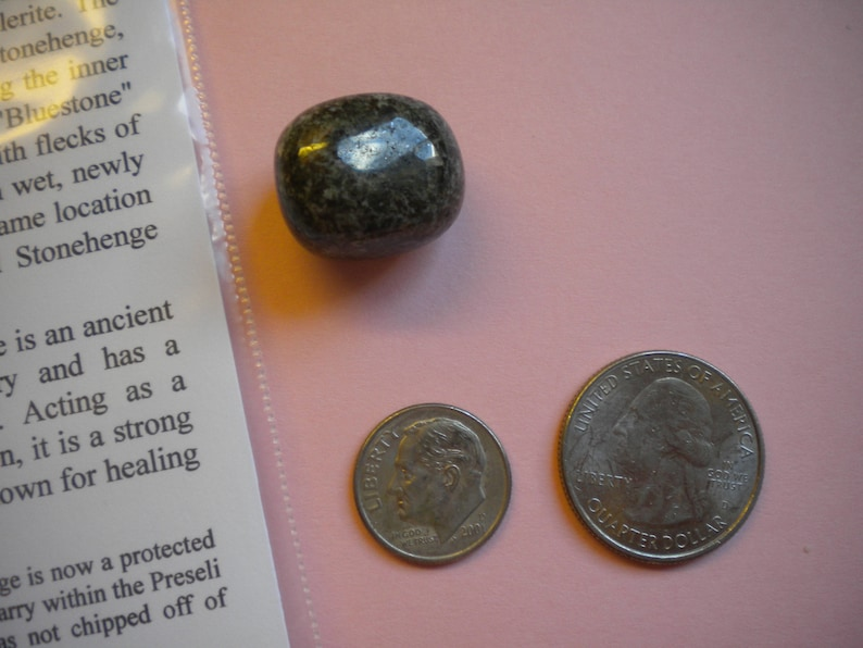 STONEHENGE BLUESTONE Polished Stone / Preseli Spotted Dolerite image 0