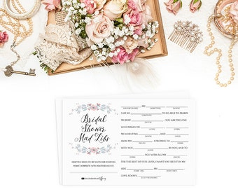 photograph about Bridal Shower Mad Libs Free Printable titled Bridal shower libs Etsy