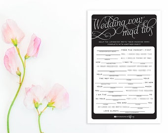 Instant Download Original Wedding Vow Mad Libs Printable | Etsy