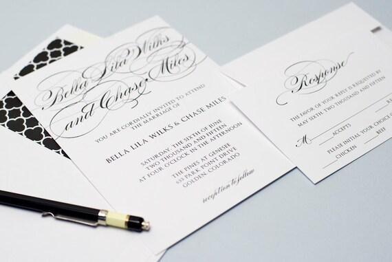 Printable Wedding Invitation Set Do It Yourself Etsy