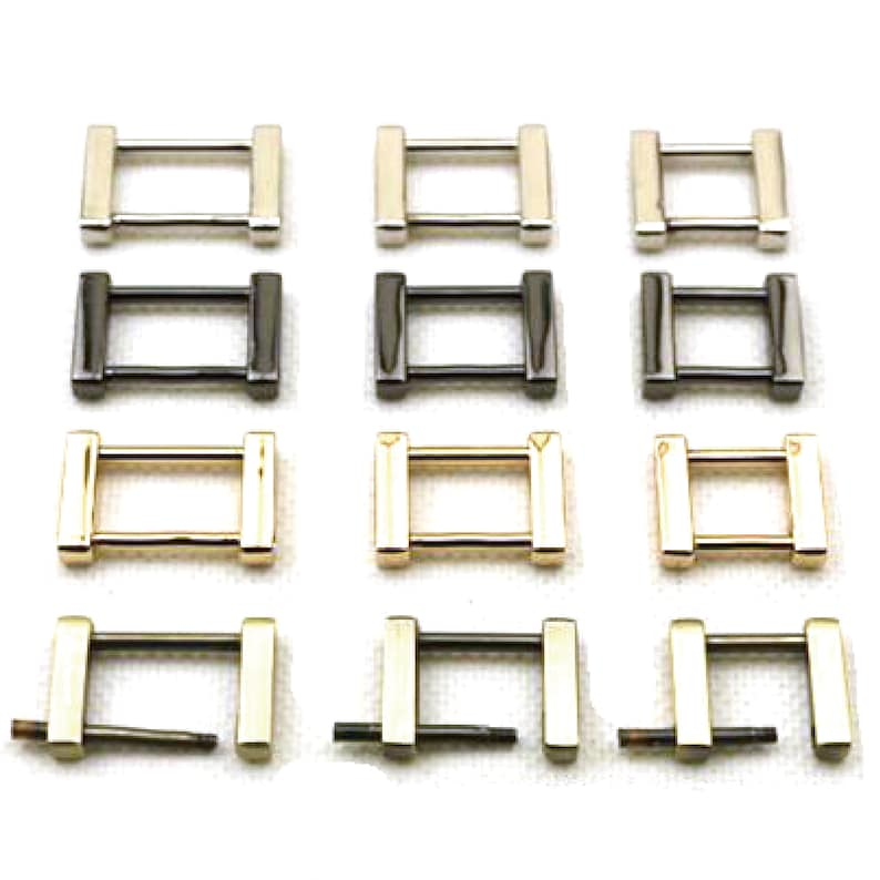 -10 piecespackage rectangular screw ring,Buckle strap connector,Purse hardware,Rectangle purse loop with SCREW,Leather Accessories