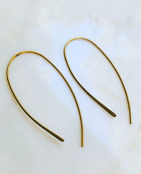 Simple Brass Loop Earrings