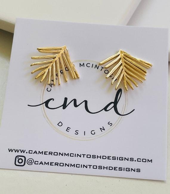 Gold Branch Stud Earrings