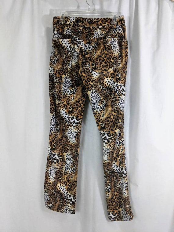 Vintage Leopard Print Pants, 1990s Animal Print P… - image 6