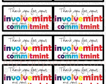 photo relating to Thank You for Your Commit Mint Free Printable called Trainer appreciation present tags Etsy