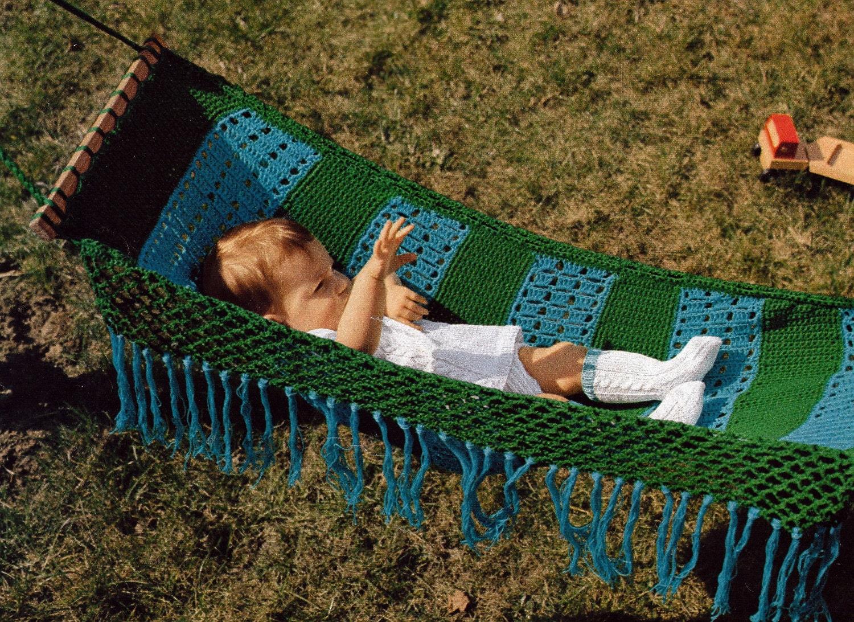 Crochet Baby Hammock Vintage Crocheting Pdf Pattern Etsy