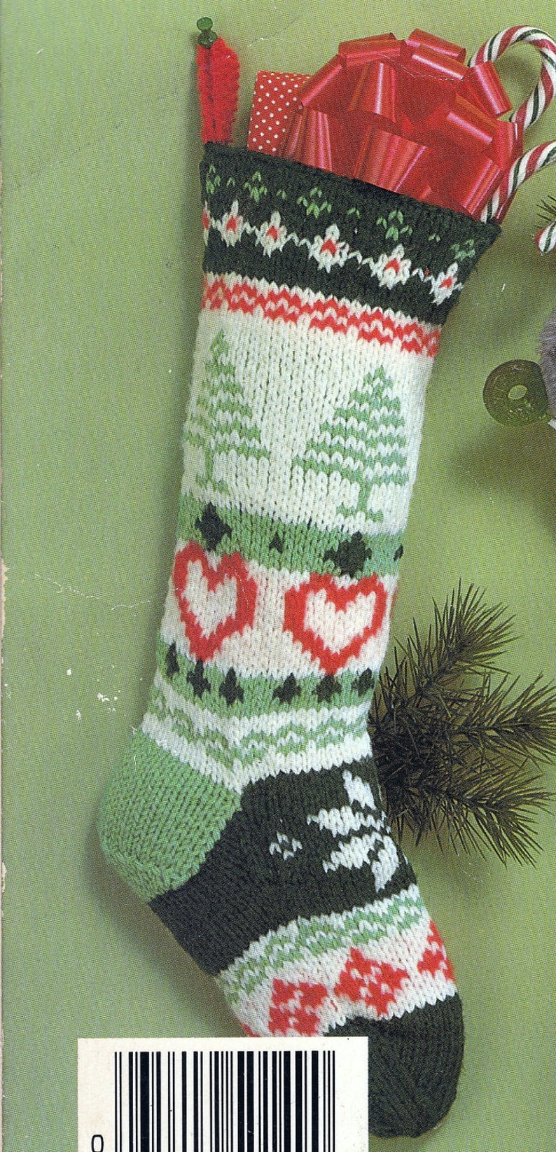 Knit Christmas Fair Isle Stocking Vintage Knitting PDF ...