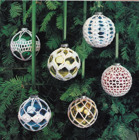 image 0 - Crochet Christmas Ornament Covers Vintage Crocheting PDF Etsy