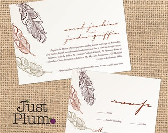 Birds Of A Feather Wedding Invitation (multiple colors available)