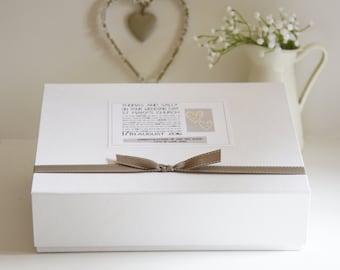 Personalised Wedding Keepsake Box, Wedding, Wedding Gifts, Memory Box, Keepsake Box, Gift for Couple, Bride and Groom Gift, Mr and Mrs Gift