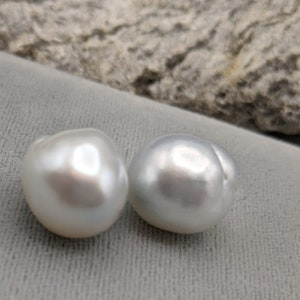 PearlExporting Undrilled Australian Pearls Large Loose Pearls South Sea Loose Saltwater Baroque Matching Pair Baroque Pearls