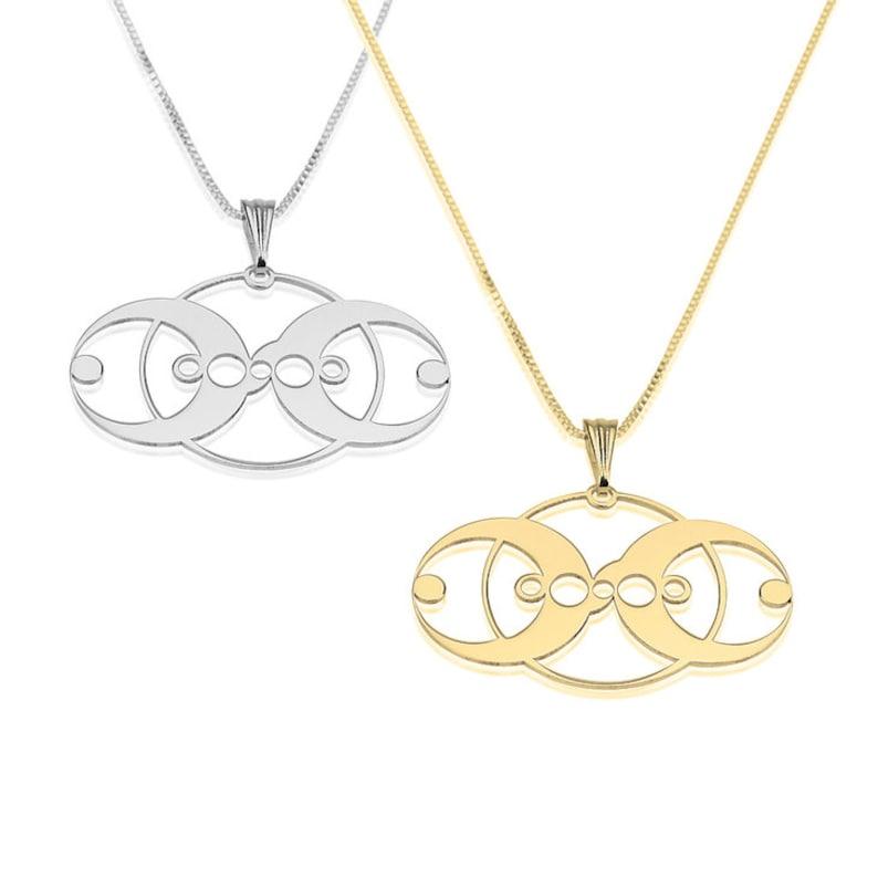 c47dadb5c Three circle pendant Sterling silver Circle necklace Three | Etsy