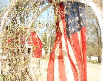 48-star flag, Vintage American Flag, Old Flag, Old Glory, Americana, Patriotic, America