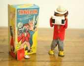 WORKING - Vintage, Wind Up, Monkey, Traveller, Camera, Box Included, Collectible Toy, 1960s, Monkey Lovers