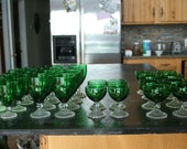Sets, Vintage Anchor Hocking, Kentucky Derby, Glass Cups, Goblets, Drink Ware, Glasses, Mint Julep, Holidays, Christmas, Barware