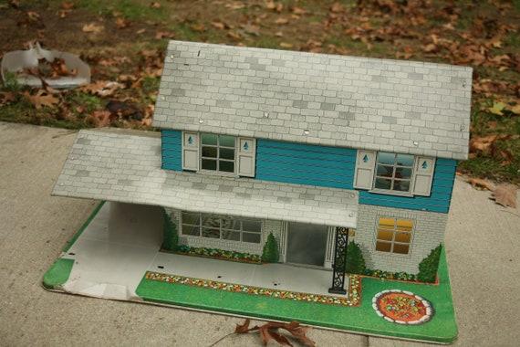 Metal Dollhouse Tin Dollhouse Vintage Dollhouse 1960 Etsy