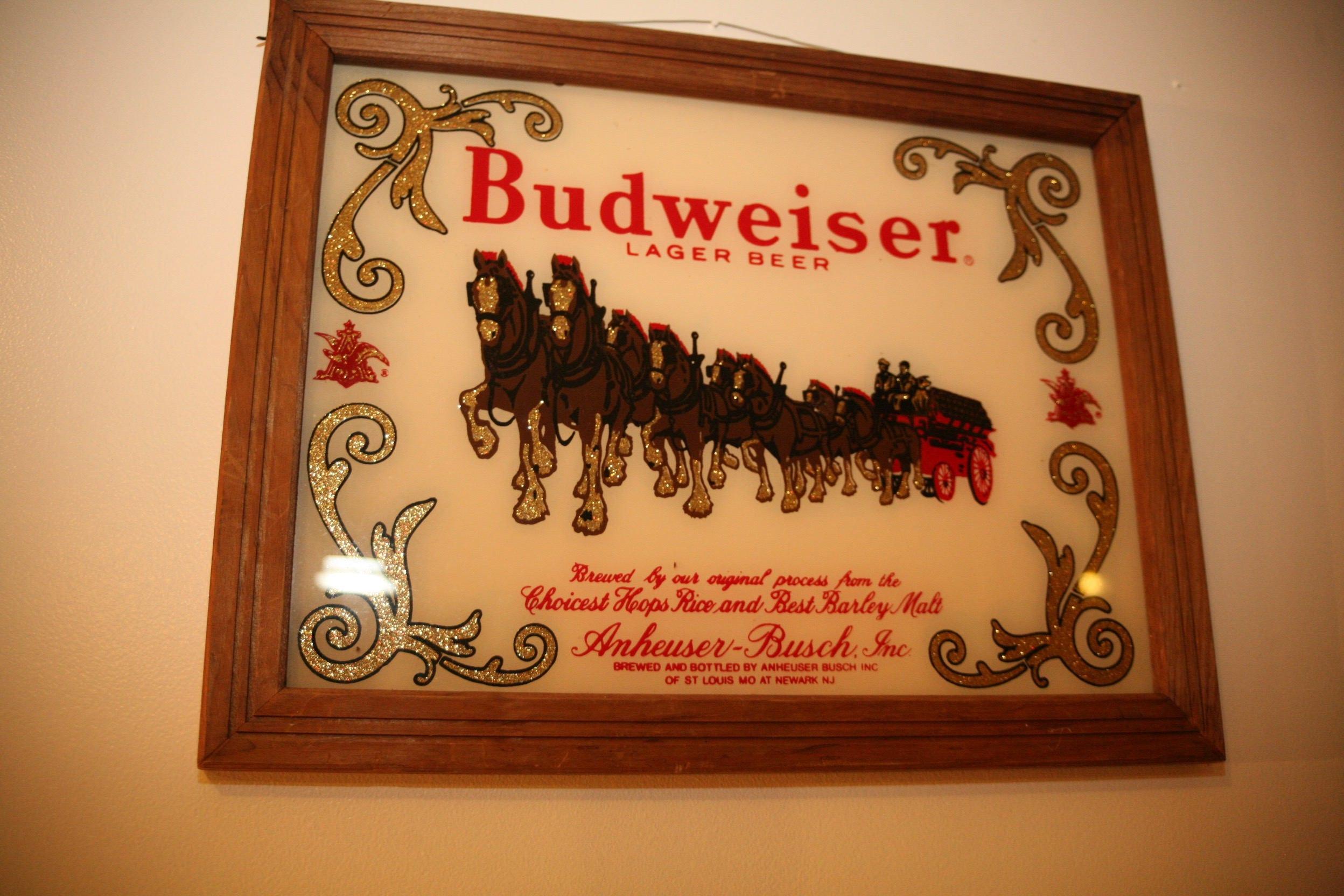 Budweiser wood hanging wall art