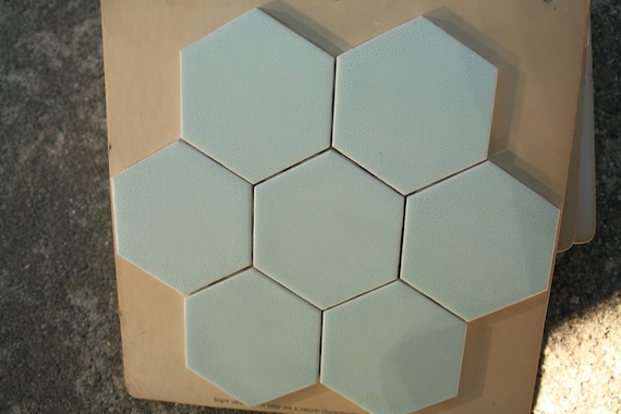 Mid Century 3 Inch Hexagon Tile Antique Gold Color Etsy