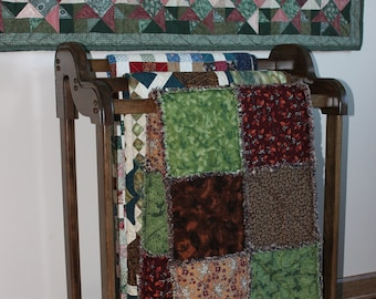 Tiered Cherry Quilt Rack, Dark Brown, 25 other colors available
