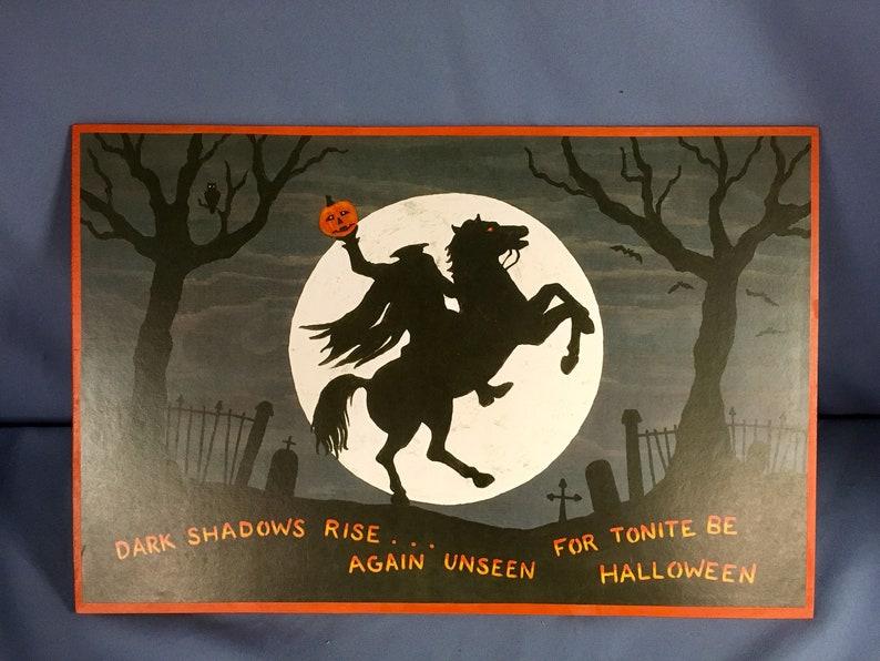 38fdb3c29892 Hardboard mounted print of an original Halloween image of a | Etsy