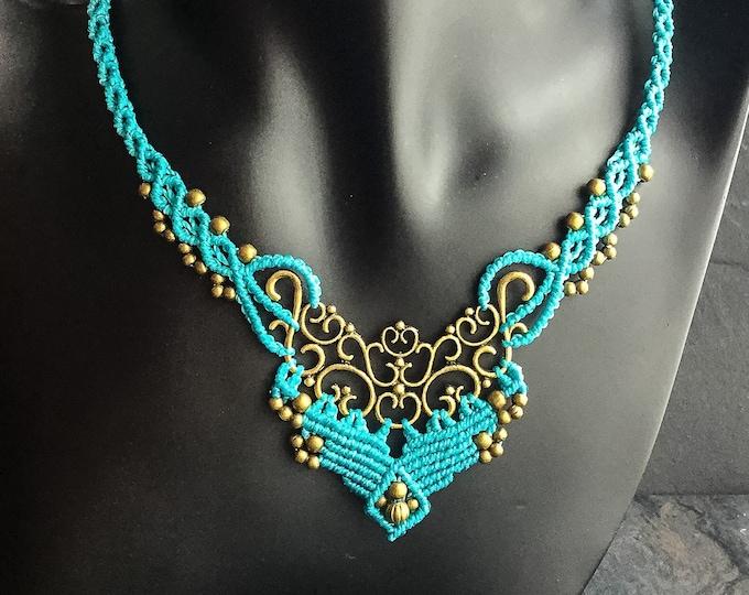 Macrame bohemian chic elven necklace boho jewelry