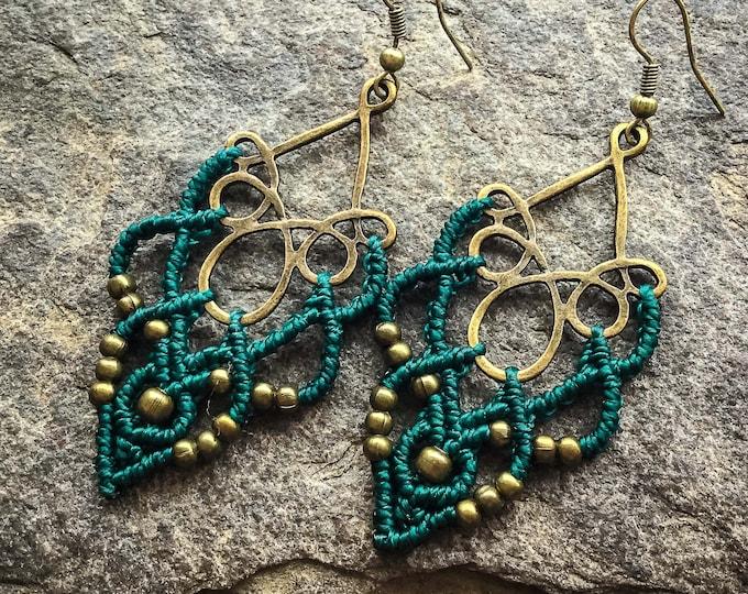 Macrame earrings festoon boho jewelry bohemian wear