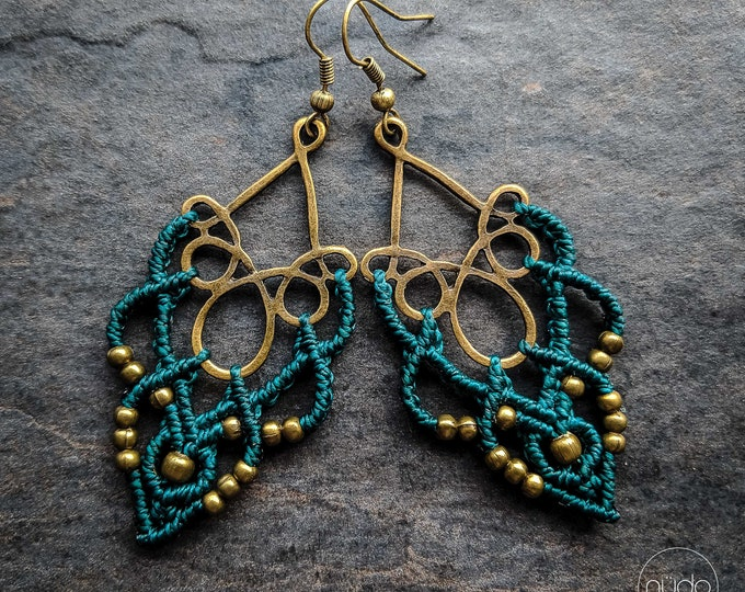 Macrame earrings festoon boho jewelry bohemian wear