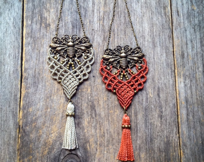 Mini macrame hanging QUEEN BEE Woven Wall Hanger bohemian door decor decoration