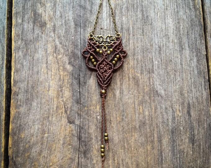 Macrame weaving Wall Hanging boho decor Mini textile decoration