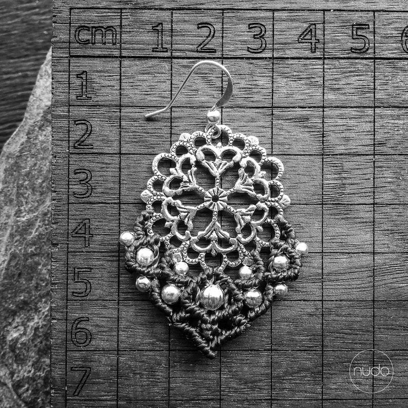 MANDALA Macrame brass earrings boho yoga jewelry micromacrame bohemian wear gypsy