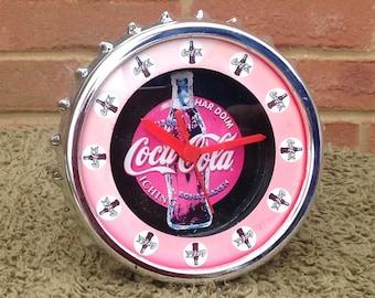 Vintage Coca Cola Clock - Coke Advertising Clock - Coca Cola Shelf or Wall Clock