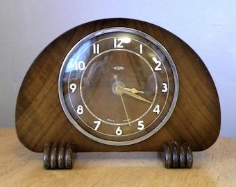 Metamec Vintage Mantel Shelf Battery Clock 1940's Recycled