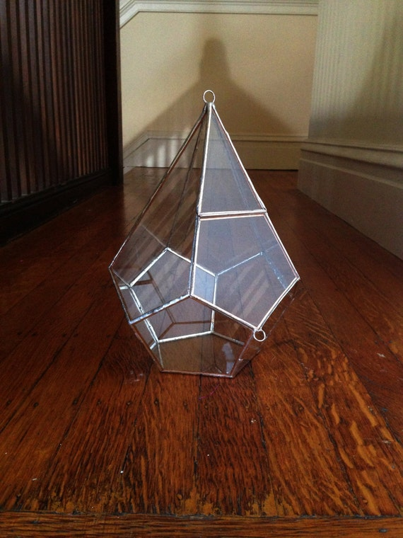 tropfenf rmige terrarium gro e glas terrarium mit dreht r etsy. Black Bedroom Furniture Sets. Home Design Ideas