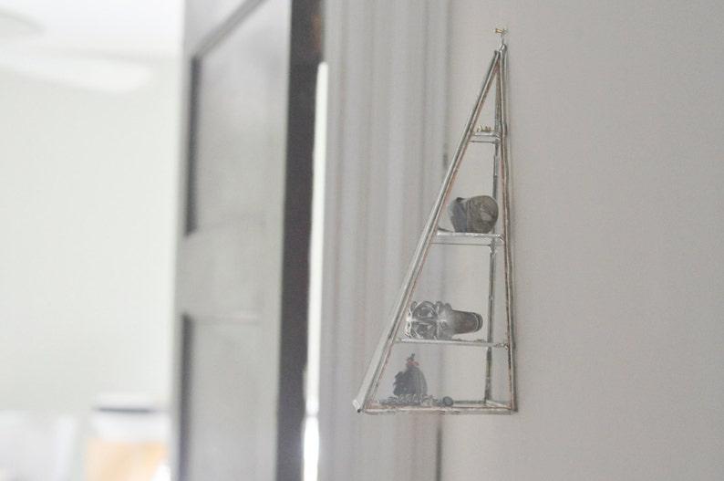 eco friendly silver or copper Polaris Pyramid Display Box glass pyramid jewelry box hinged