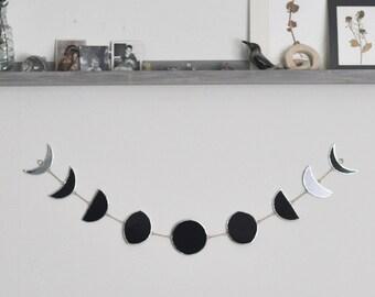 Oscuro lado de fase lunar completa - grande - negro vidrio Luna fase Luna - celeste - negra - luna de cristal - respetuoso del medio ambiente